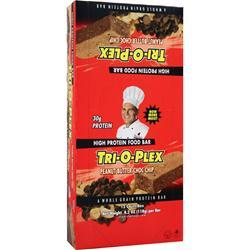 CHEF JAY'S Tri-O-Plex Bar Peanut Butter Choc. Chip 12 bars