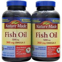 NATURE MADE Fish Oil (1,200mg) Twin Pack 400 sgels