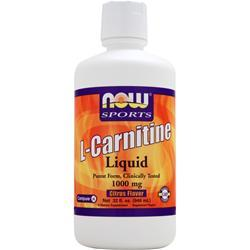 NOW L-Carnitine Liquid (1000mg) Citrus 32 fl.oz
