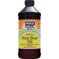 Now Rice Bran Oil (100% pure) 16 fl.oz