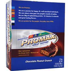 Promax Promax Energy Bar Chocolate Peanut Crunch 12 bars