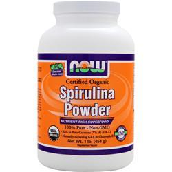 NOW Spirulina Powder - Certified Organic 1 lbs