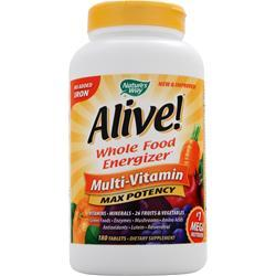 NATURE'S WAY Alive Multivitamin - No Iron Added 180 tabs