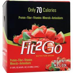 NEW WHEY NUTRITION Fit2Go RTD Berry Melon 12 bttls