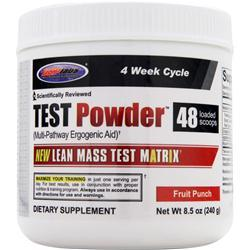 USP Labs Test Powder Fruit Punch 8.5 oz