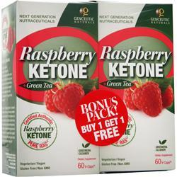 GENCEUTIC NATURALS Raspberry Ketone + Green Tea Bonus Pack 120 vcaps