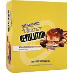 WORLDWIDE SPORTS Protein Revolution Bar Chocolate Peanut Caramel 12 bars