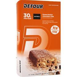 FORWARD FOODS Detour Oatmeal Bar Peanut Butter Choc. Chip 12 bars