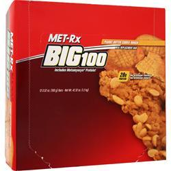MET-RX Big 100 Food Bar Peanut Butter Cookie 12 bars