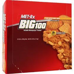 MET-RX Big 100 Food Bar Peanut Butter Cookie 12 bars