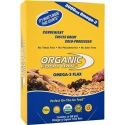 ORGANIC FOOD BAR Omega-3 Flax Bar 12 bars