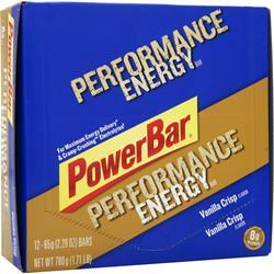POWERBAR Performance Energy Bar Vanilla Crisp 12 bars