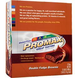 PROMAX Promax Energy Bar Double Fudge Brownie 12 bars