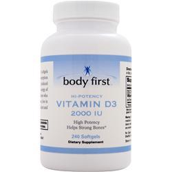 BODY FIRST Vitamin D3 (2000IU) * 240 sgels