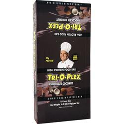 Chef Jay's Tri-O-Plex Bar Chocolate Coconut 12 bars