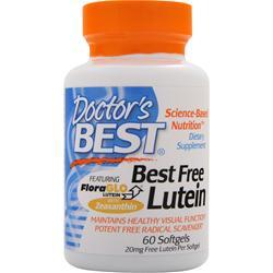 DOCTOR'S BEST Best Free Lutein 60 sgels