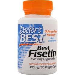 DOCTOR'S BEST Best Fisetin (100mg) featuring Cognisetin 30 vcaps