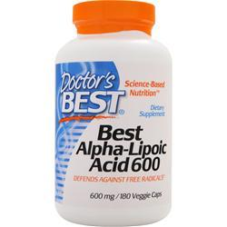 DOCTOR'S BEST Best Alpha-Lipoic Acid (600mg) 180 vcaps