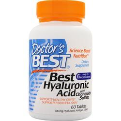 Doctor's Best Best Hyaluronic Acid with Chondroitin Sulfate  BEST BY 5/17 60 tabs