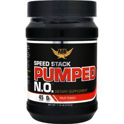 AMERICAN BODYBUILDING Speed Stack Pumped N.O. Powder Fruit Punch 518 grams