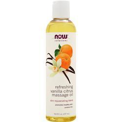 NOW Refreshing Massage Oil Vanilla Citrus 8 fl.oz