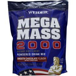 Weider Super Mega Mass 2000 Smooth Chocolate 12.1 lbs
