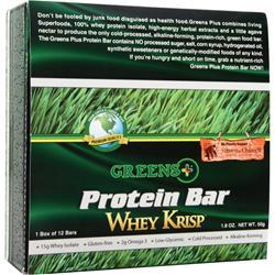 GREENS PLUS Whey Krisp Bar 12 bars