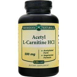 Meridian Naturals Acetyl L-Carnitine HCl 500mg 120 kcaps