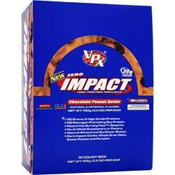 VPX SPORTS Zero Impact Bar Chocolate Peanut Butter 12 bars