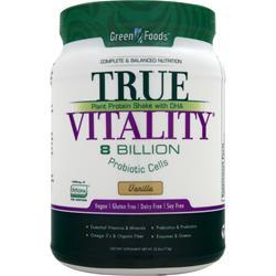 GREEN FOODS True Vitality - Plant Protein Shake with DHA Vanilla 25.2 oz