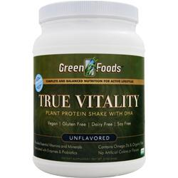 GREEN FOODS True Vitality - Plant Protein Shake with DHA Unflavored 22.7 oz