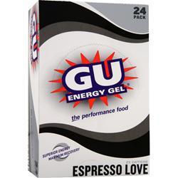 GU Energy Gel Espresso Love-2X Caffeine 24 pckts