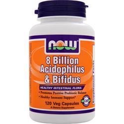 NOW 8 Billion Acidophilus and Bifidus 120 caps