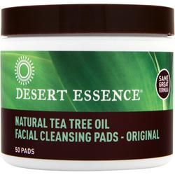 Desert Essence Facial Cleansing Pads Natural Tea Tree Oil 50 pads