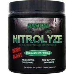 SPECIES Nitrolyze - Ultra Concentrate Pre-Workout Berry Blast 208 grams