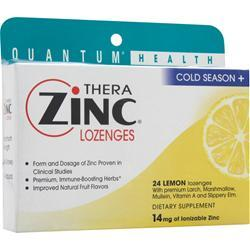 QUANTUM Thera Zinc Lozenges Lemon 24 lzngs