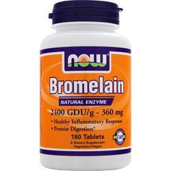 Now Bromelain (360mg) 2400 GDU 180 tabs