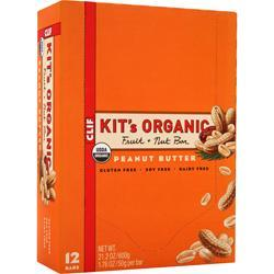 CLIF BAR Kit's Organic Fruit + Nut Bar Peanut Butter 12 bars