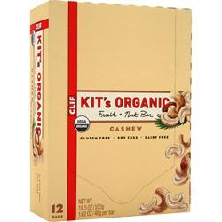 CLIF BAR Kit's Organic Fruit + Nut Bar Cashew 12 bars