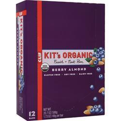 Clif Bar Kit's Organic Fruit + Nut Bar Berry Almond 12 bars