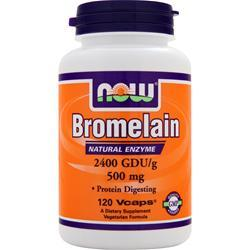 NOW Bromelain (500mg) 2400 GDU 120 vcaps