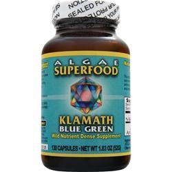 Power Organics Klamath Blue Green Algae Caps 130 caps