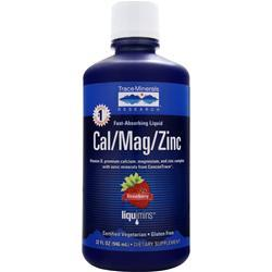 TRACE MINERALS RESEARCH Cal/Mag/Zinc Liquid Strawberry 32 fl.oz