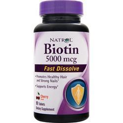 Natrol Biotin (5,000mcg) - Fast Dissolve Strawberry 90 tabs