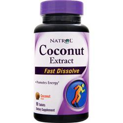 NATROL Coconut Extract - Fast Dissolve Coconut Flavor 90 tabs