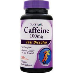 NATROL Caffeine (100mg) - Fast Dissolve Mocha EXPIRES 8/15 30 tabs