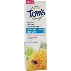 Tom's Of Maine Botanically Bright Whitening Toothpaste Peppermint 4.7 oz