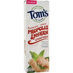 Tom's Of Maine Fluoride-Free Propolis & Myrrh Toothpaste Gingermint 4 oz