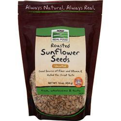 NOW Sunflower Seeds - Roasted, No Salt Hulled 16 oz