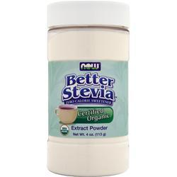 Now Better Stevia - Zero Calorie Sweetener Organic 4 oz